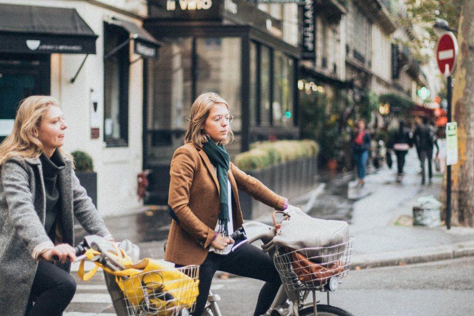 fietsen in de stad