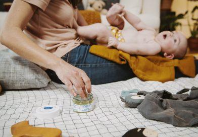 Nieuwe 100% natuurlijke balsem voor babymassage